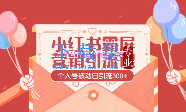 全新小红书霸屏个人号被动日引流300+营销引流课 第1张