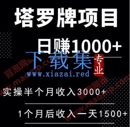 塔罗牌日赚1000+项目,勇哥实操半个月收入3000+,一个月后收入稳定在一天1500+(全套课程)