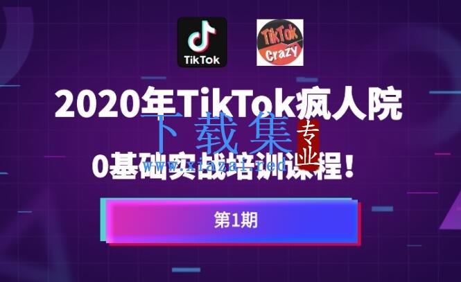 疯人院Tiktok海外版抖音零基础实战课程第1期,让你方位掌握TikTok基础运营方法