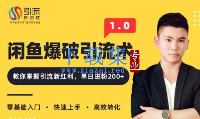 九京闲鱼爆品引流技术1.0,掌握引流新红利,单日进粉200+