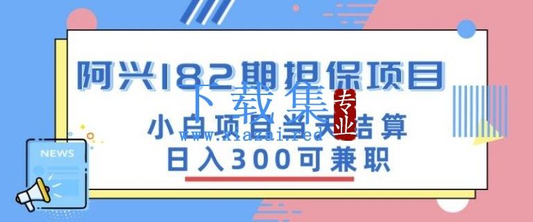阿兴博客182期担保项目:小白项目当天结算日入300可兼职