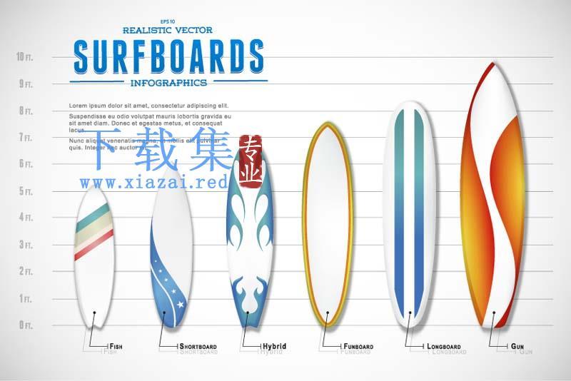 冲浪板矢量图标
