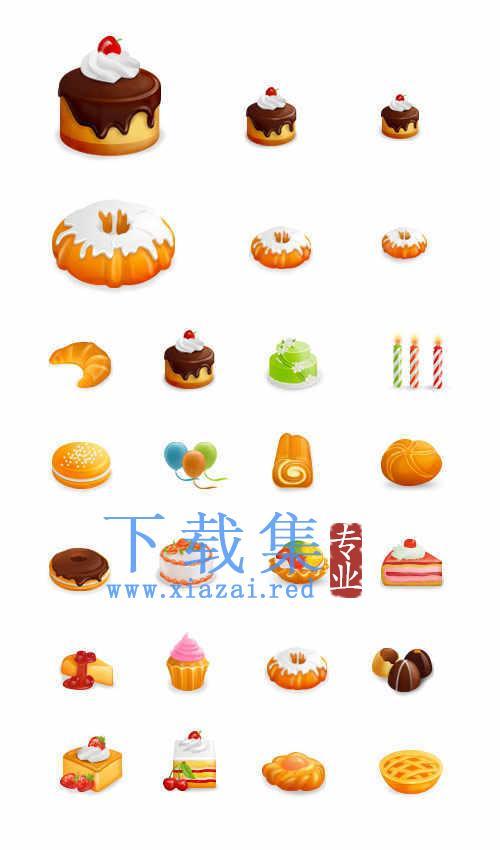 食品食物和蛋糕PNG,ICO图标集