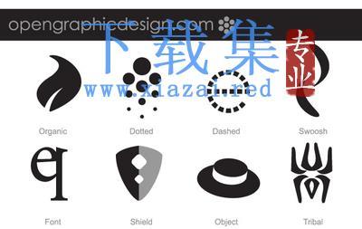 两套创意简单的LOGO标志EPS矢量素材
