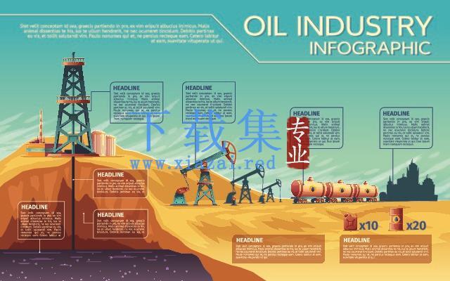 石油采取工业资讯图AI素材