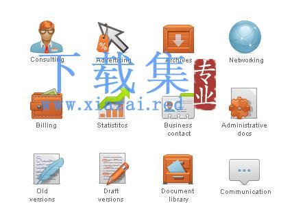 CMS内容管理系统图标集