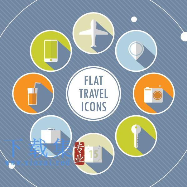 8个圆形旅游旅行设计元素  第1张