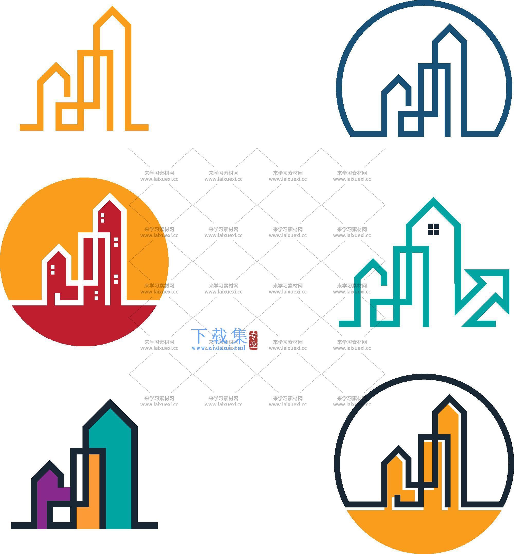 房地产房屋中介矢量图标合集