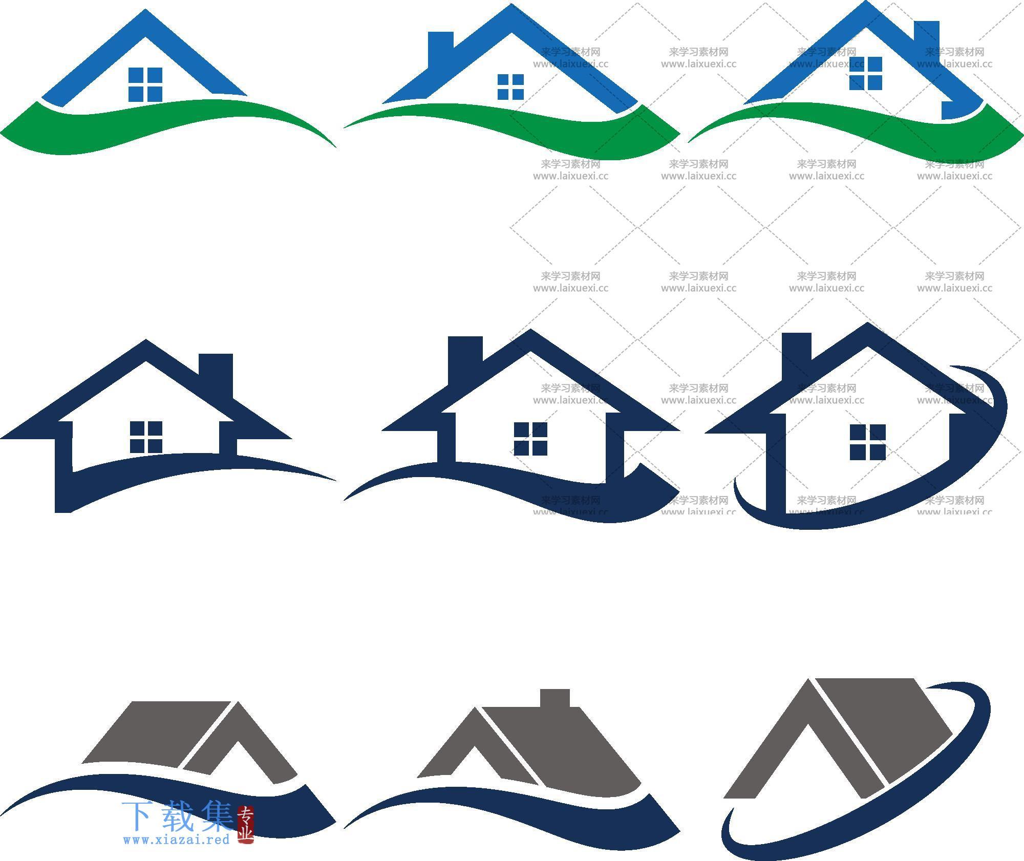房地产房屋中介矢量图标合集  第2张