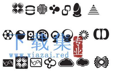 20种不同的符号抽象图标AI矢量素材  第1张
