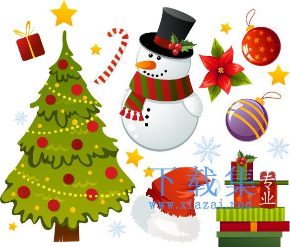 漂亮的卡通圣诞EPS矢量图标