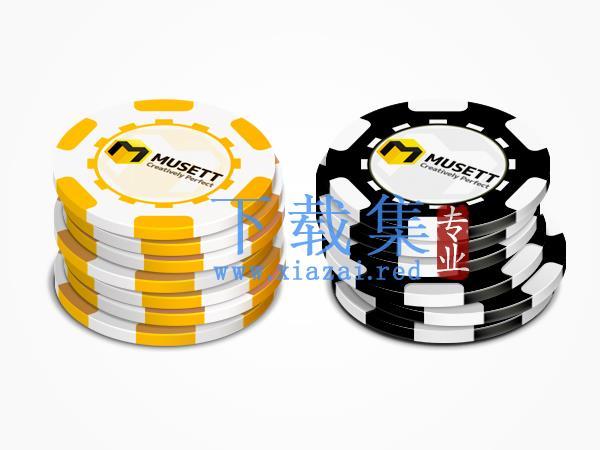 拉斯维加斯赌博筹码ICONS图标