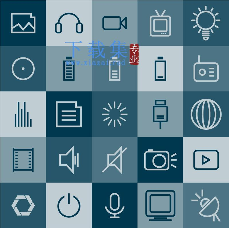 25种线条数码电子产品应用AI矢量图标