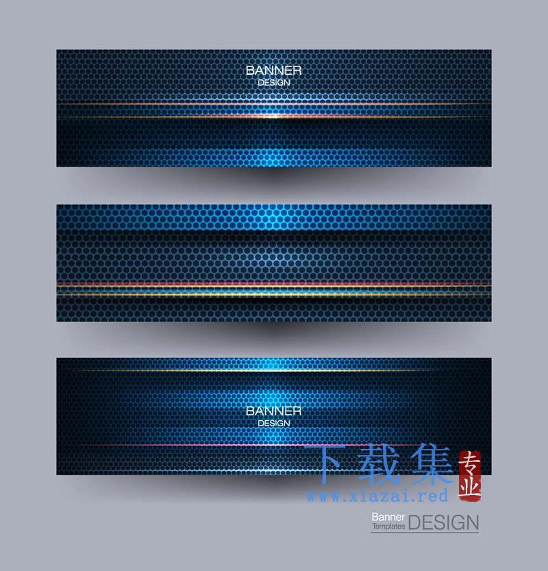 4套网页横幅广告背景模板