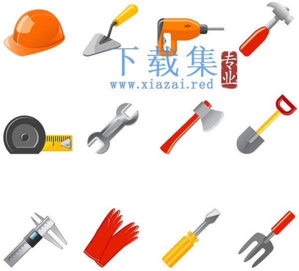 建筑工地装修常用工具AI图标  第1张