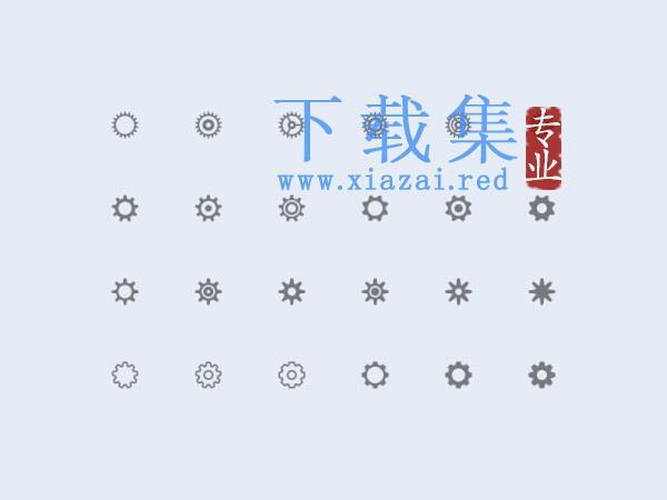 齿轮PSD图标