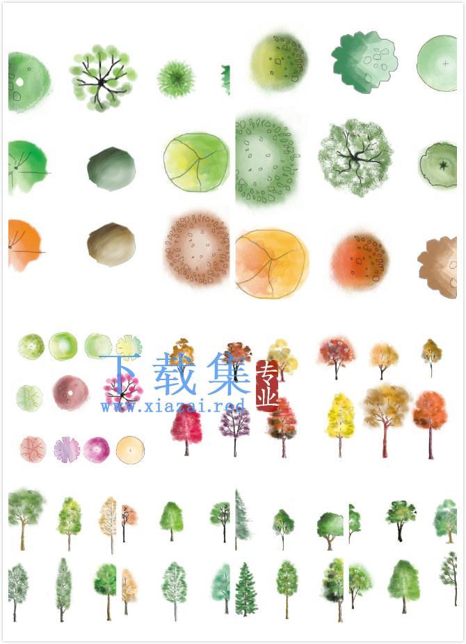 呆萌可爱小清新的植物一组PSD源文件