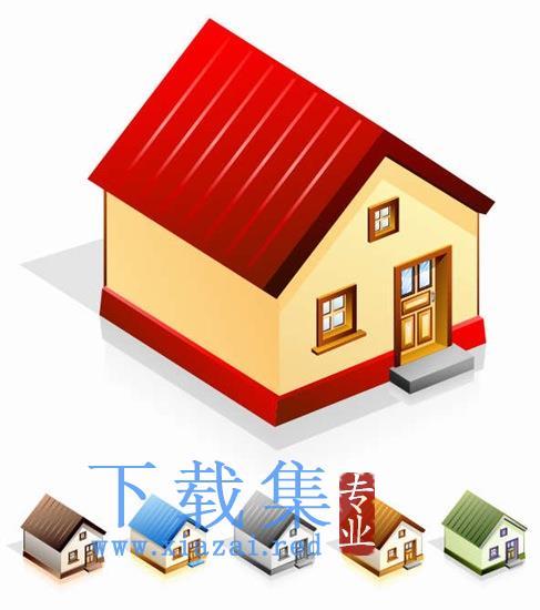 房屋矢量图标集  第1张