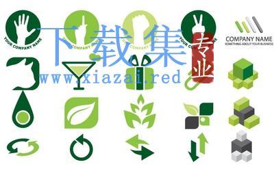 绿色图标标志EPS矢量设计元素  第1张