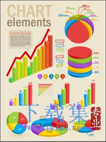 信息图形和图表设计EPS矢量元素