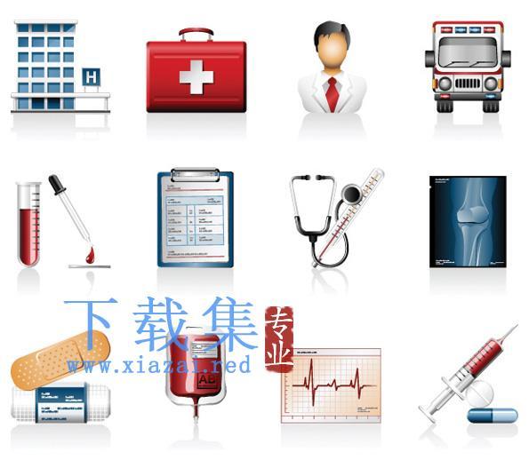 医院医疗图标矢量元素