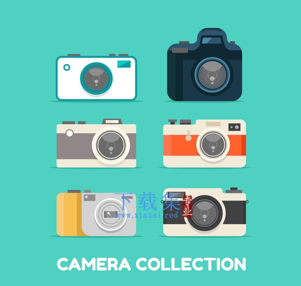 6款时尚相机设计矢量素材