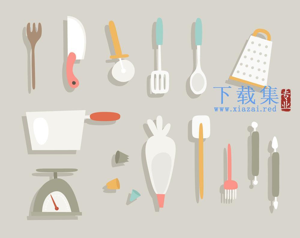 15个创意厨房用品矢量素材
