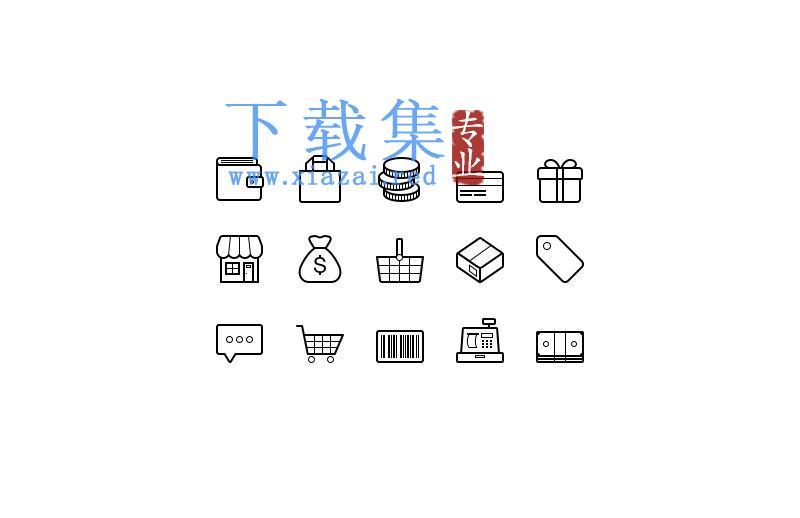 电子金融商务矢量ai&eps&PSD&SVG图标集  第1张