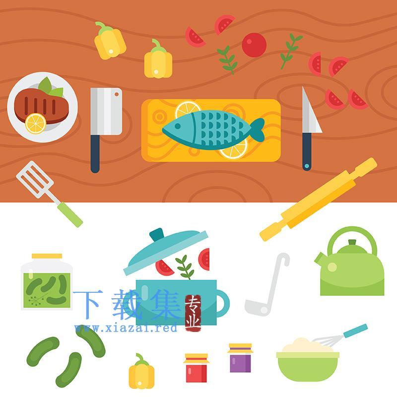 厨房用品EPS矢量素材