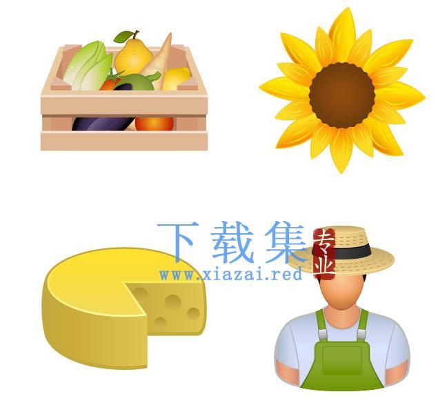 农产品PNG图标免抠图