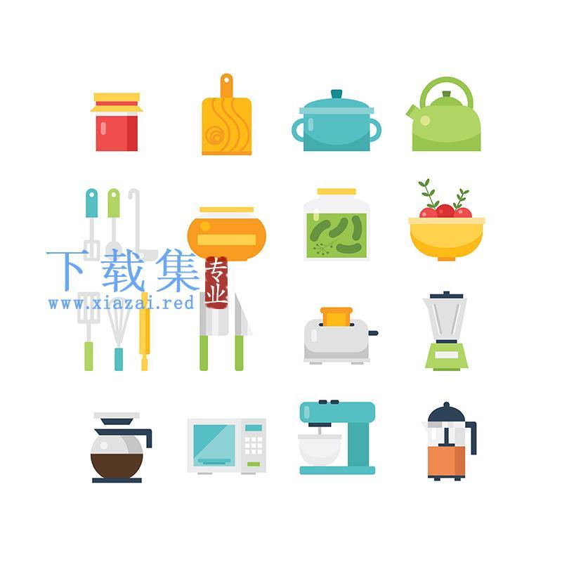 16个厨房用品EPS矢量素材  第1张