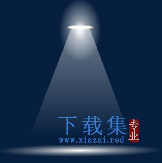 矢量电灯光照矢量元素