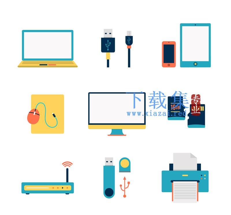 9个电子产品AI矢量图标