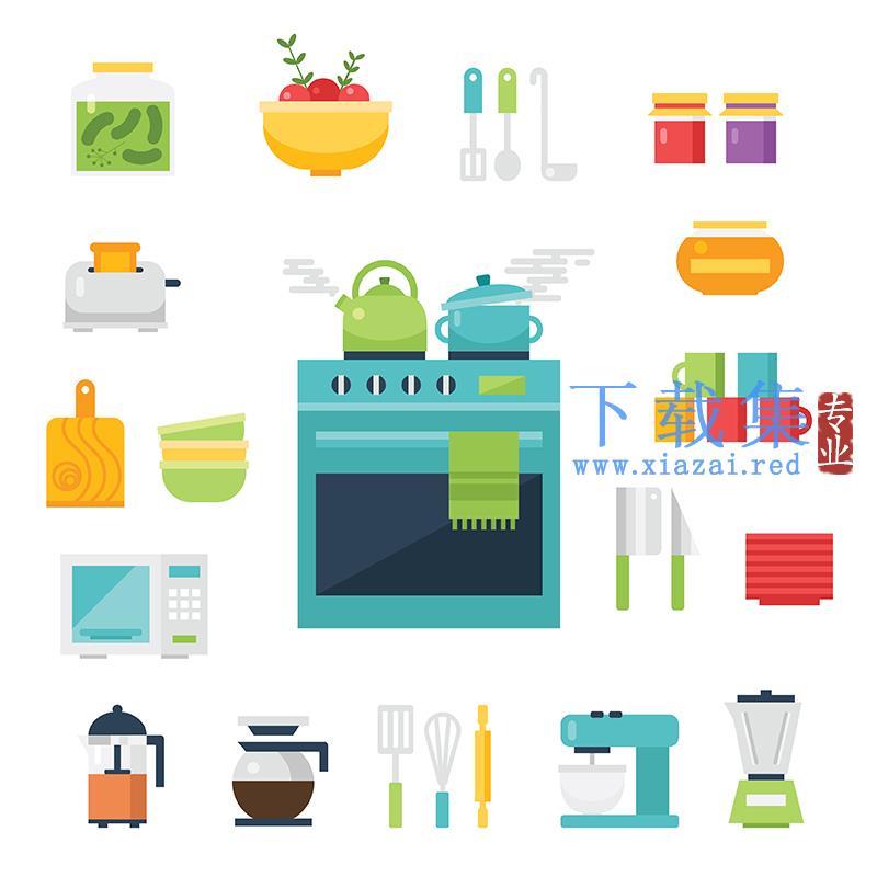 厨房用品及餐具EPS矢量素材  第1张