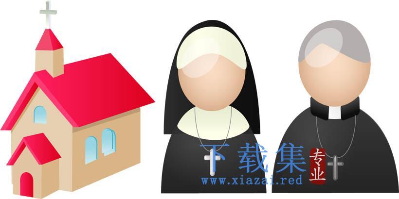 基督教教堂PNG免抠图标
