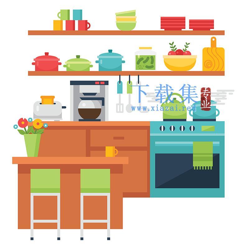 厨房用品EPS矢量图标
