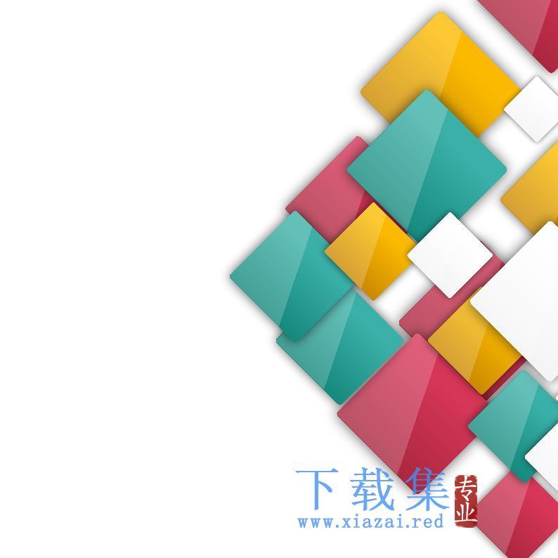 矢量正方形盒子模板