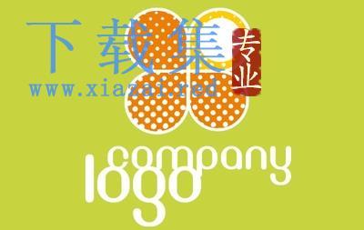 四叶草点状公司LOGO标志EPS矢量素材  第1张