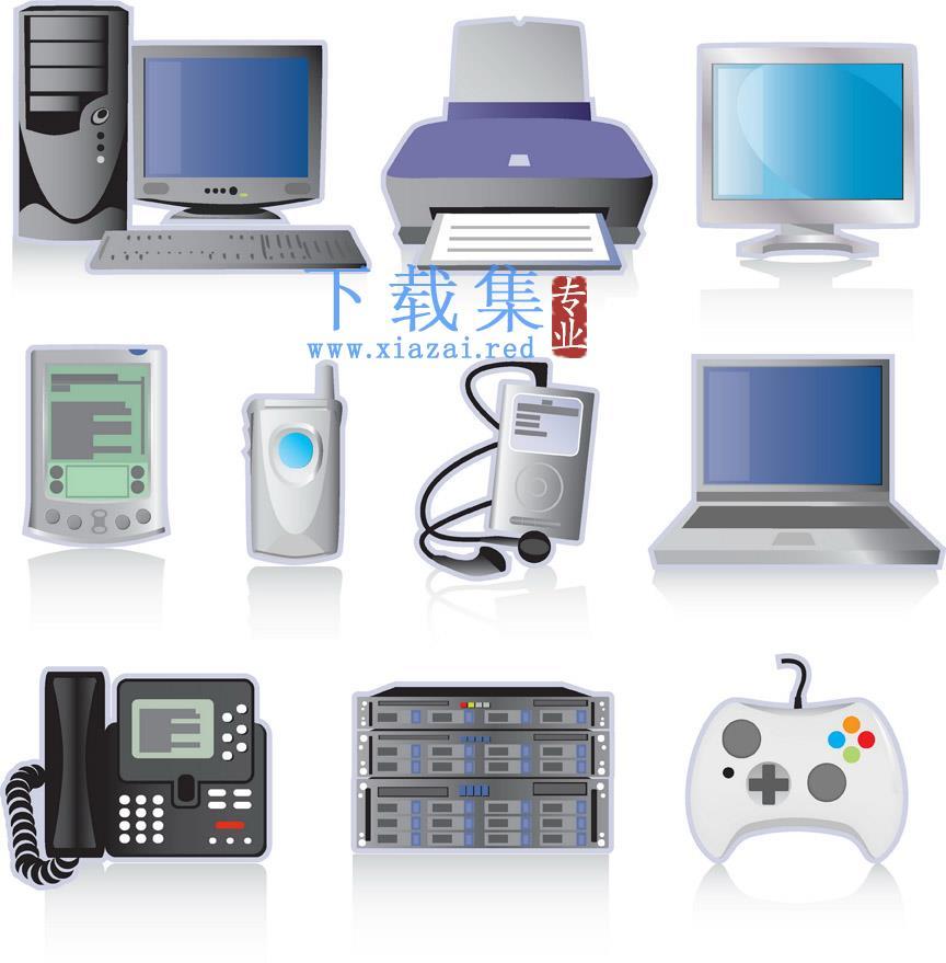 电脑电子产品相关设备EPS矢量素材
