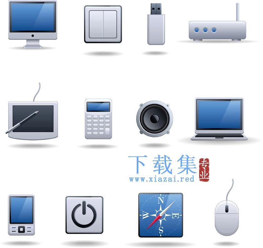 电脑电子产品相关设备EPS矢量素材  第2张