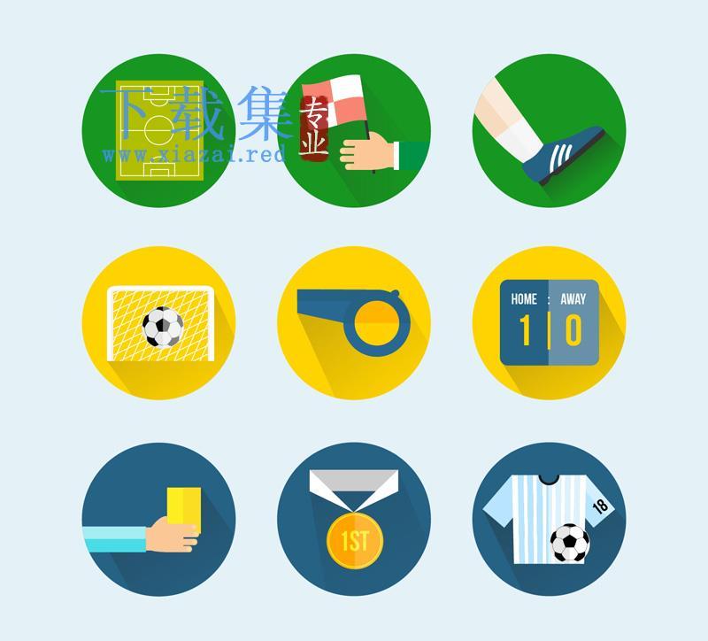 9个圆形足球相关AI矢量素材  第1张