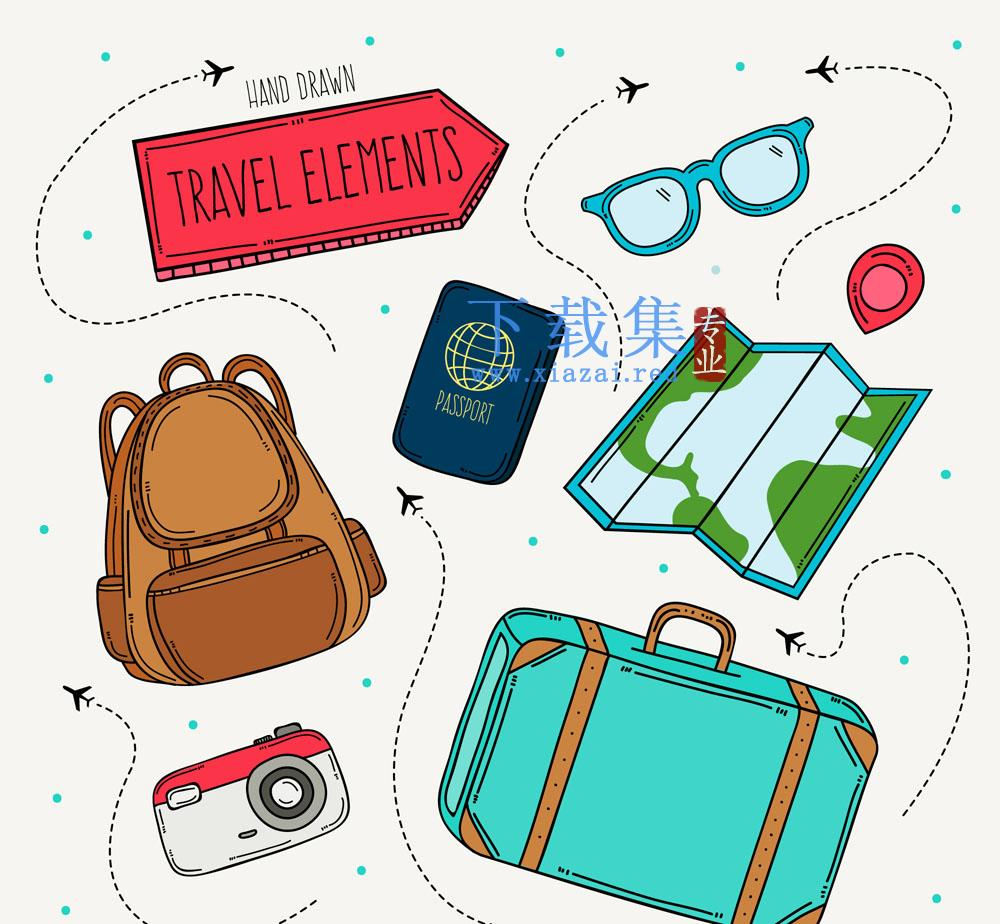 8款旅行旅游矢量元素