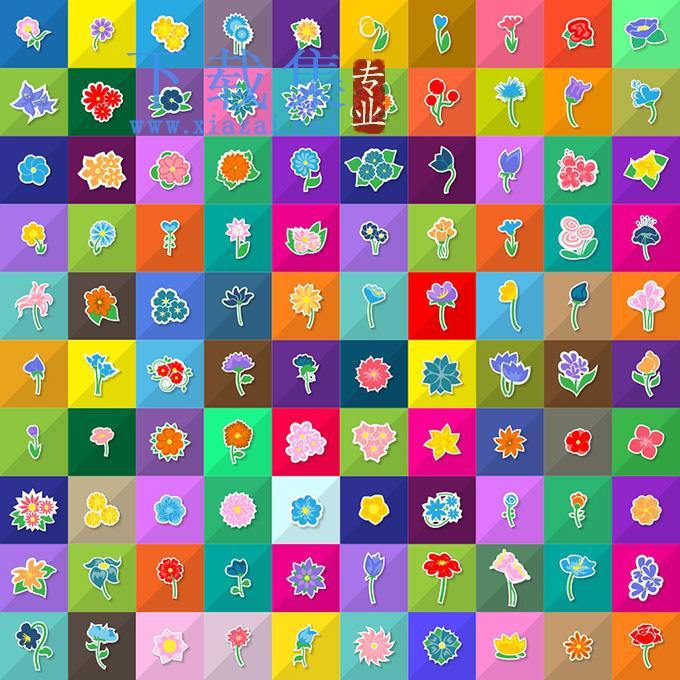 时尚花卉EPS矢量图标