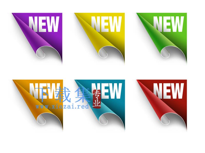 卷角NEW标签PSD素材  第1张