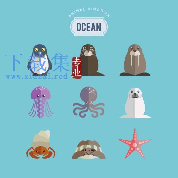 海洋动物AI矢量图  第1张