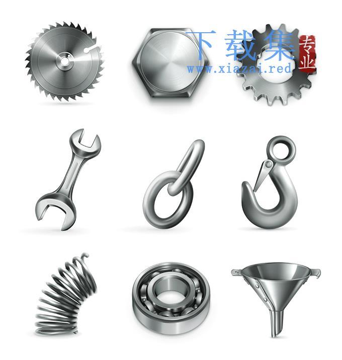 金属工具图标EPS矢量素材  第1张