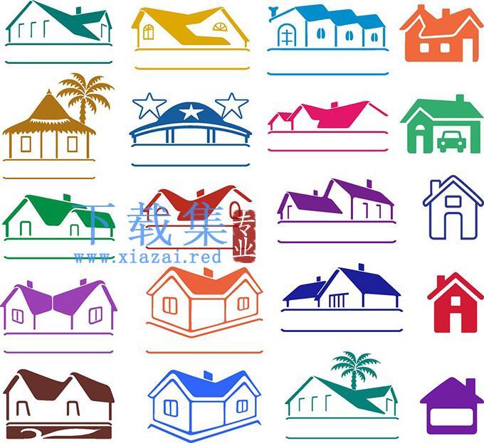 房屋建筑EPS矢量图标集