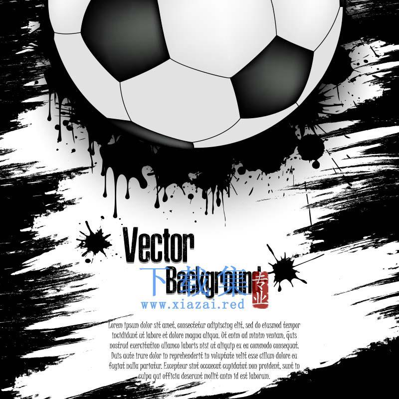 创意足球矢量背景
