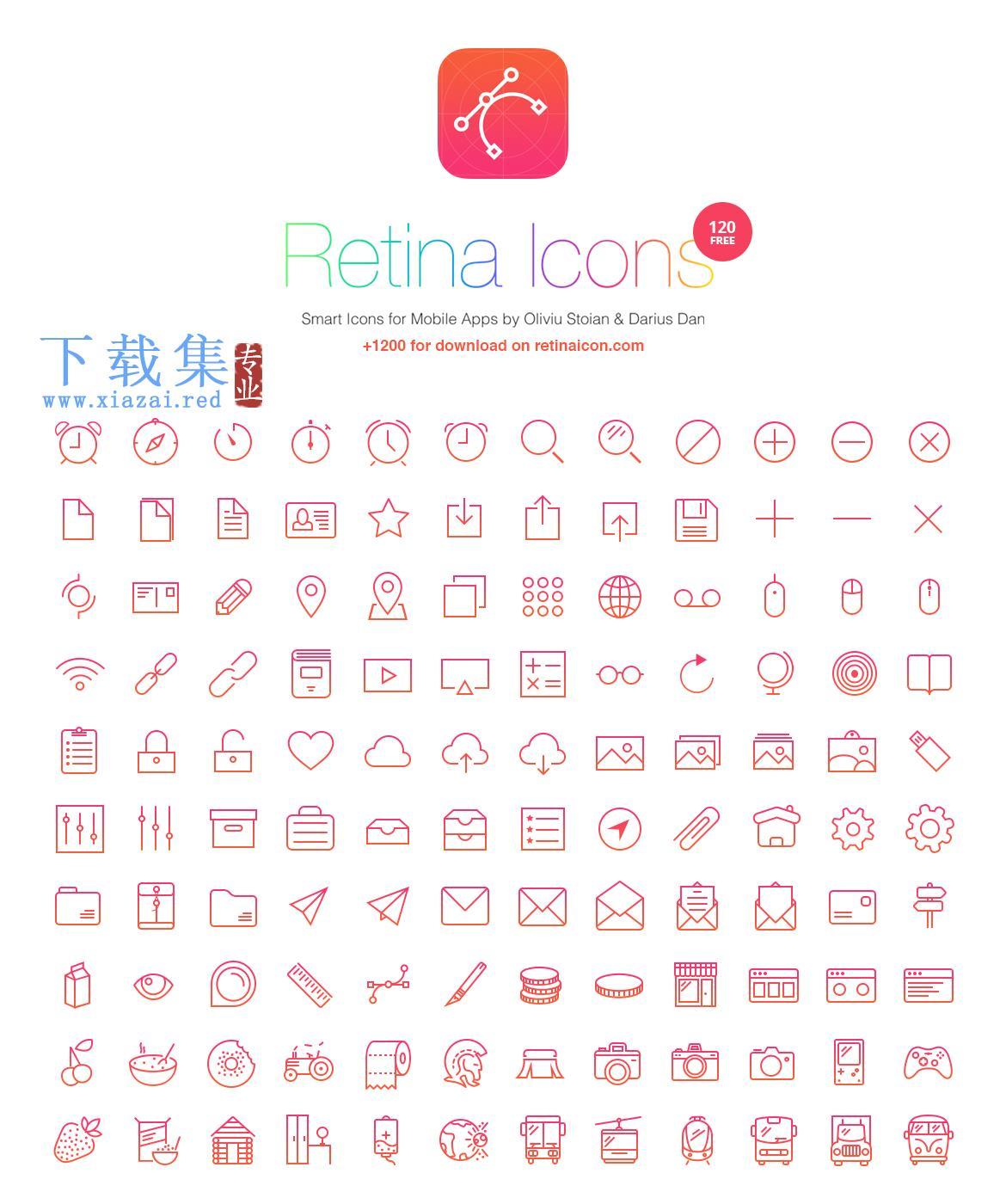 retinaicon免费PSD图标  第1张