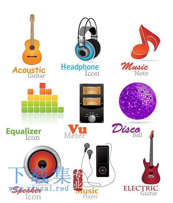 时尚音乐乐器eps矢量图标素材4